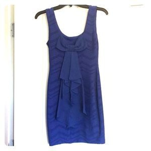 B. Darlin royal blue bow back mini dress size 2